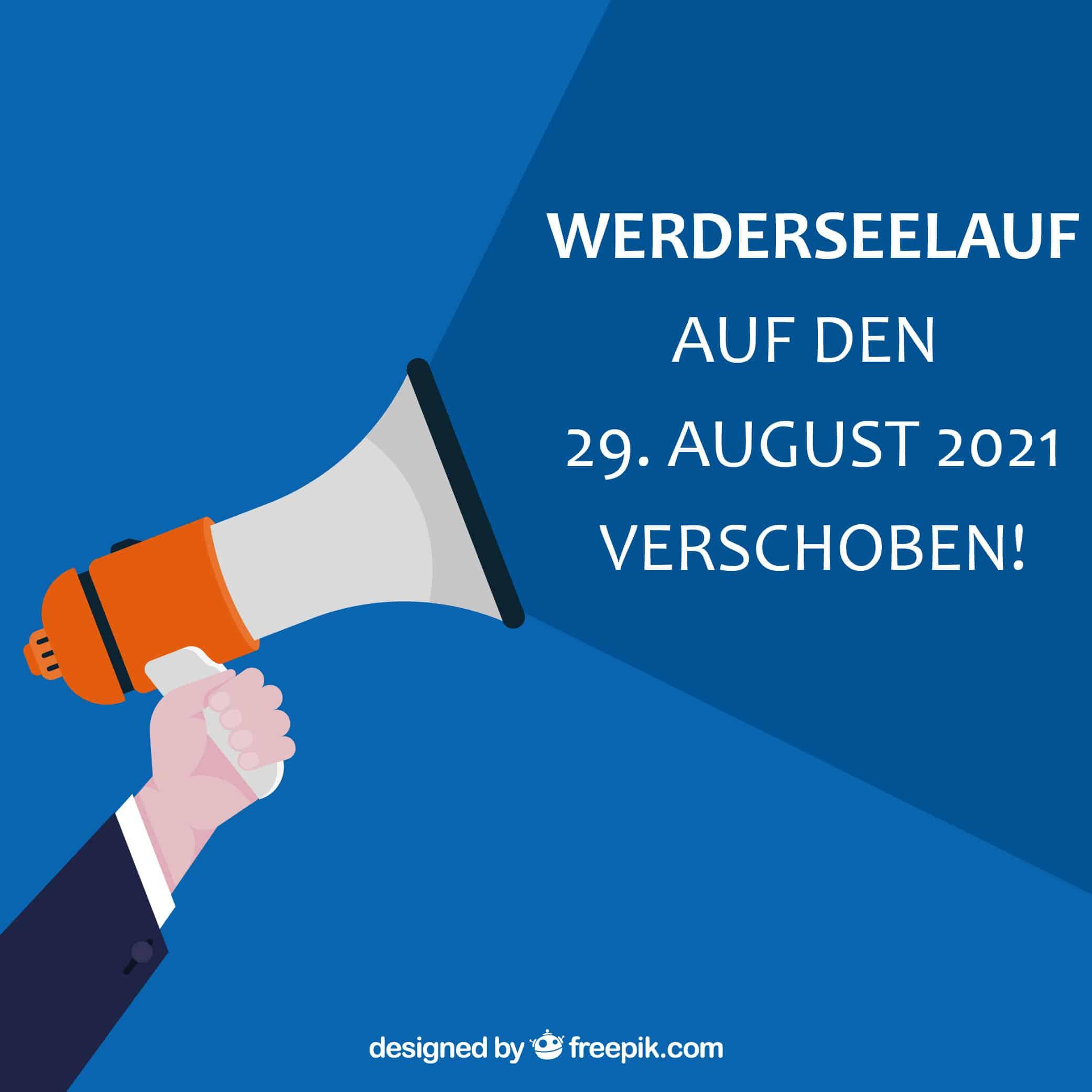 Werderseelauf auf den 29. August 2021 verschoben
